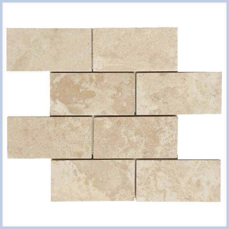 Filed&honed Travertine Mosaics