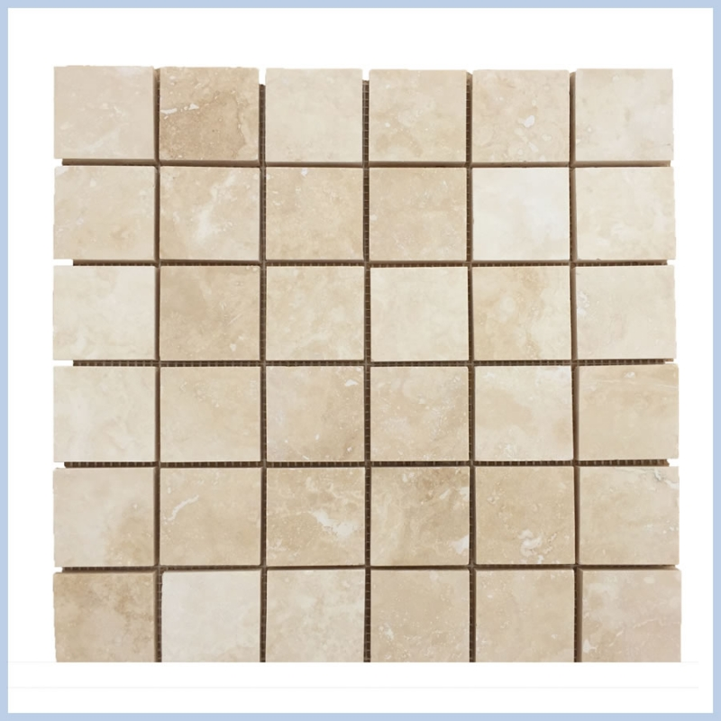 Filed&Honed Travertine Mosaics
