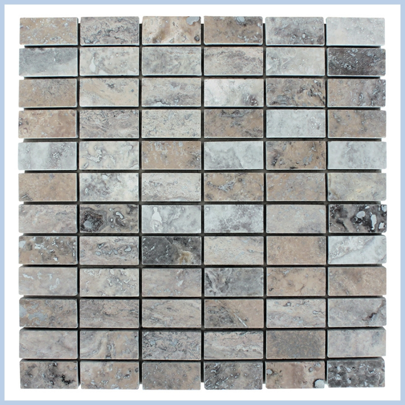 Silver Travertine Mosaics
