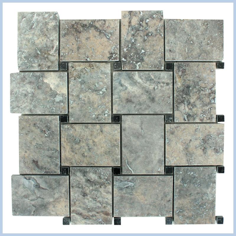 Silver Travertine Mosaics